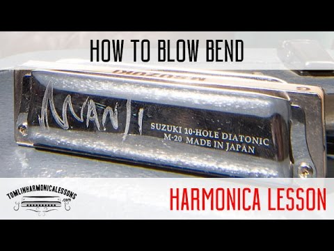How to blow bend on harmonica