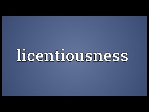 Header of licentiousness