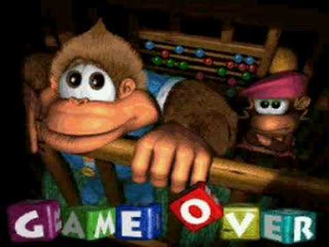 Donkey Kong Country 3: Game Over screen - YouTube