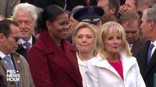 Michelle Obama and Jill Biden enter Inauguration Day 2017 ceremony