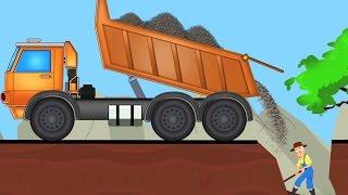 xe tải dumpster | Hình thành và sử dụng | Video trẻ em | Construction Vehicle | Kids Cartoon