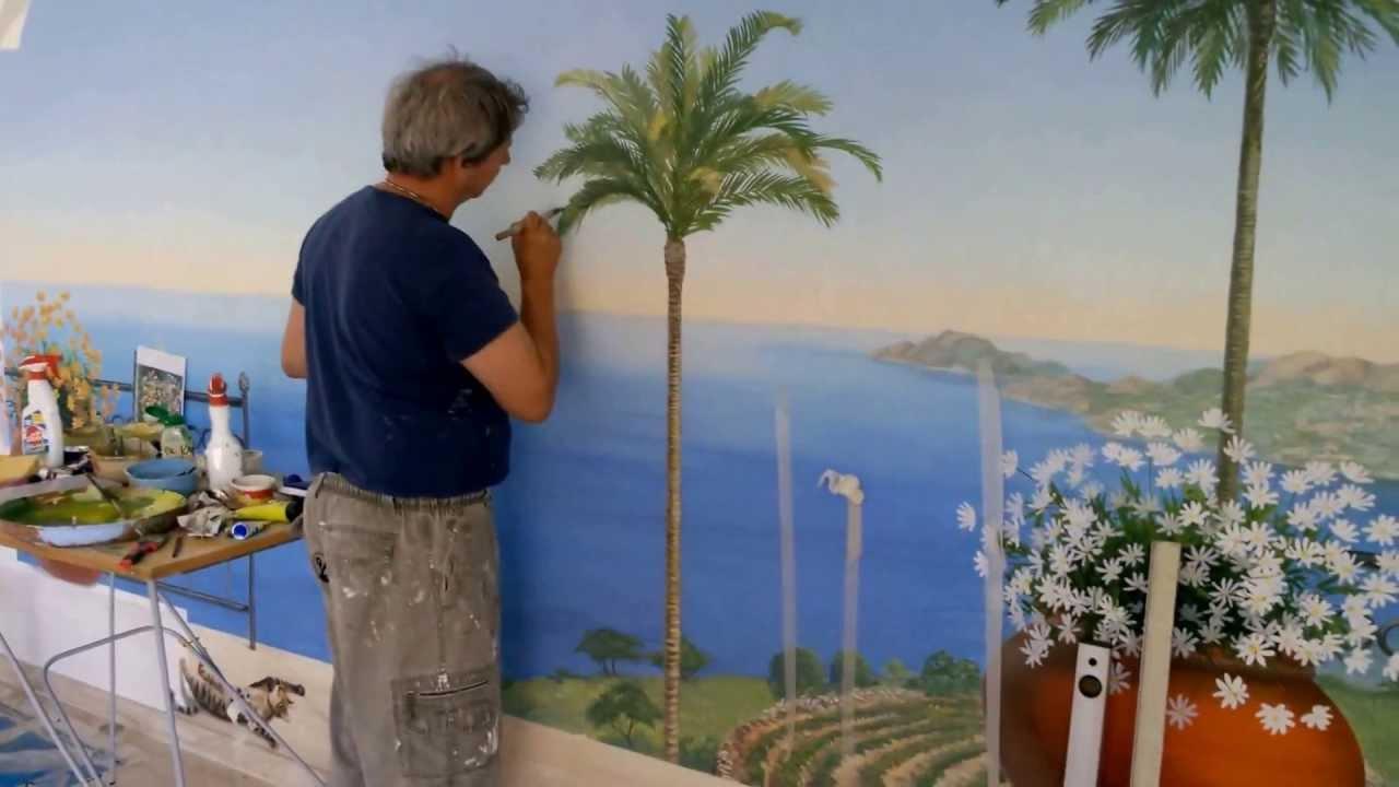 D cor en trompe l 39 oeil pour piscine youtube - Decoration trompe l oeil ...