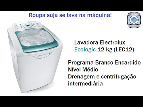 Lavadora Electrolux Ecologic 12kg (LEC12) - Drenagem e centrifugação intermediária