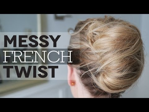 How to French Twist Hair How to Messy French Twist