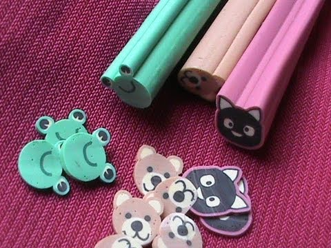 How To Cut Fimo Canes collection Easy fimo canes nail art tutorial- fimo clay DIY fimo flower
