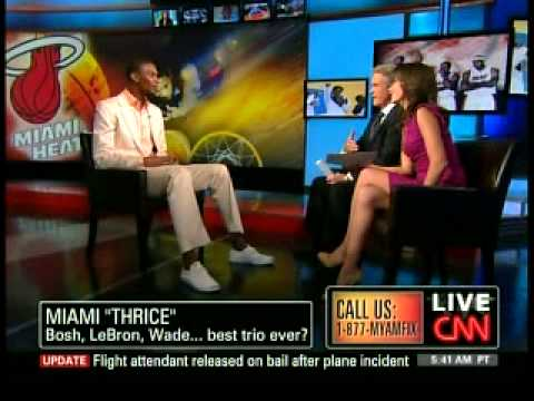 Chris Bosh - CNN American Morning August 11 2010 