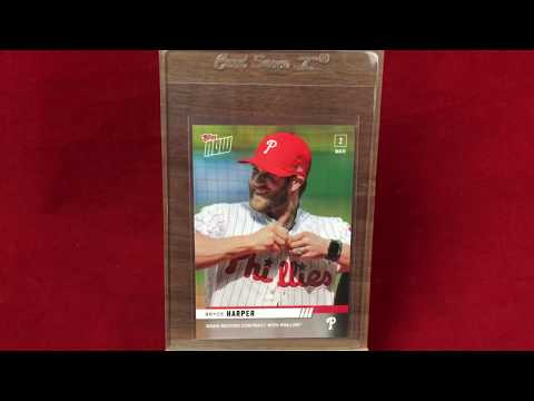 First Bryce Harper Phillies Baseball Card Reveal & Review