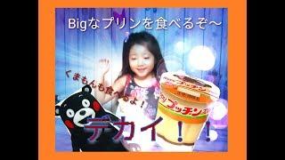 BIGぷっちんプリン!!くまもんと食べたよぉ!