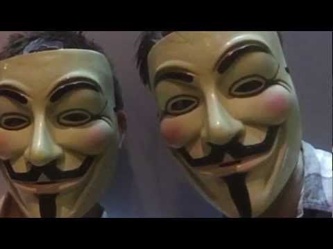 Anonymous Wikileaks supporters protest UK Ecuadorean Embassy Threat-video by Sarah Cortes