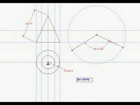 Dibujo desarrollo cono cip virgen del camino youtube - Como hacer un cono ...