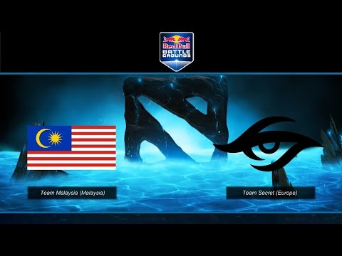 Team Secret vs Team Malaysia RedBull Battlegrounds LAN finals game 2