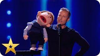 Say whaaat?! Paul Zerdin left speechless by puppet! | BGT: The Champions