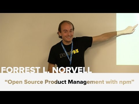 Open Source Product Management with npm