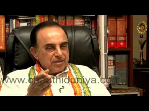 Shekhar Gupta (Indian Express Editor) is a chamcha of Chidambaram - Dr.Subramanian Swamy