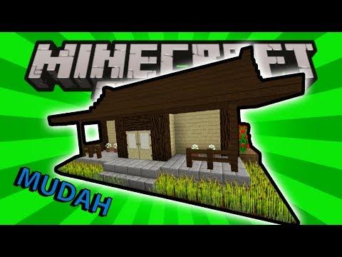 Minecraft : CARA MEMBUAT RUMAH KAYU SIMPEL DAN SEDERHANA - MINECRAFT TUTORIAL #3