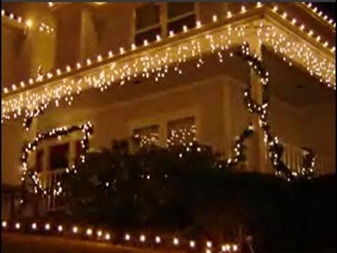 C mo poner luces bonitas en tu casa por navidad youtube - Luces exteriores para casas ...