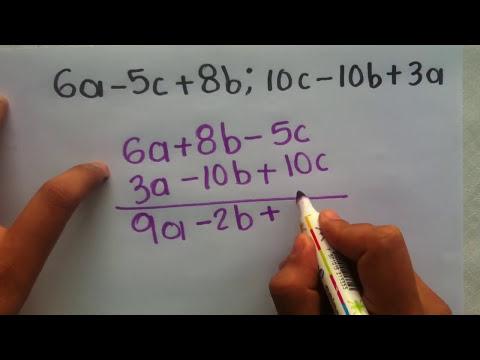 Suma de polinomios - Operaciones con incógnitas