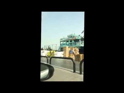 Import/export ships and water taxis, Dubai, Kenya trip 2015