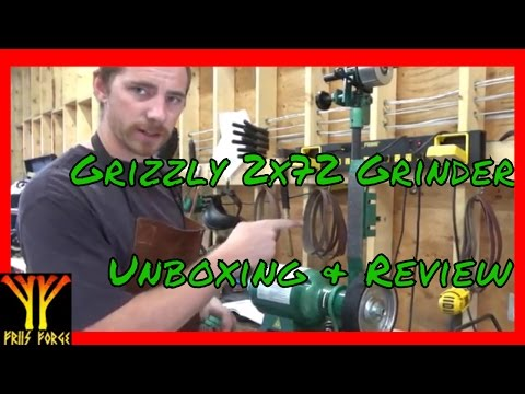 Grizzly 2x72 Grinder Unboxing Building & Review ✔
