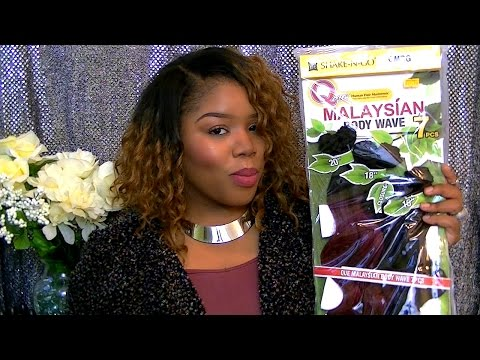 FirstLook   Que Malaysian Body Wave 7PC OMBG