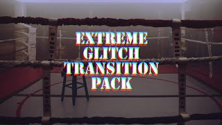 Extreme Glitch Transition Pack Premiere Pro Templates