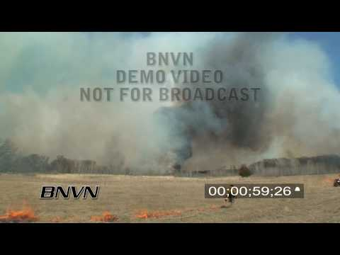 4/17/2009 Prescribed Burn Grass Fire Footage