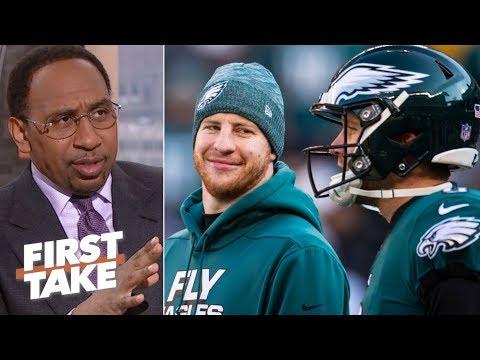 Nick Foles isn't a better quarterback than Carson Wentz  - Stephen A. | First Take