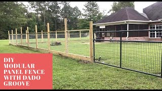 Part 1: Modular Hogwire Panel Fence with Dado Groove