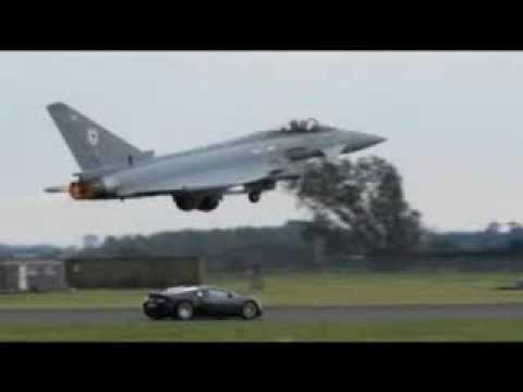 bugatti veyron vs eurofighter typhoon jet must watch youtube. Black Bedroom Furniture Sets. Home Design Ideas