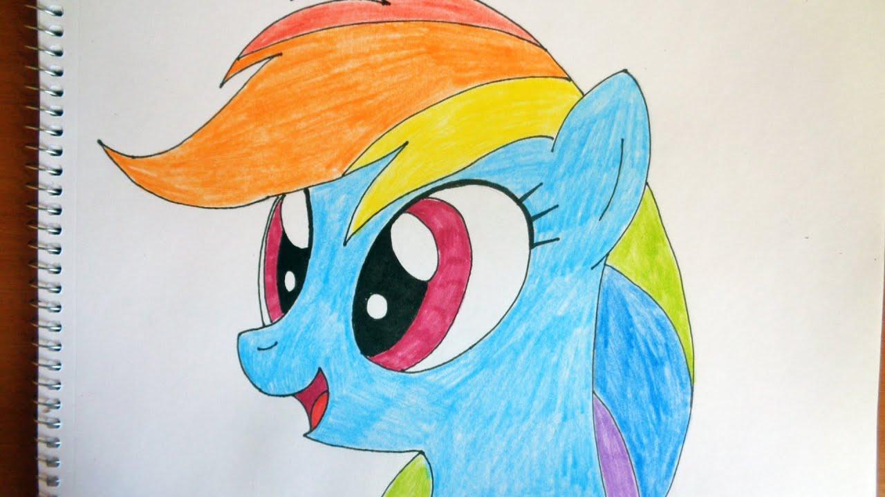 Фото как нарисовать пони радуга