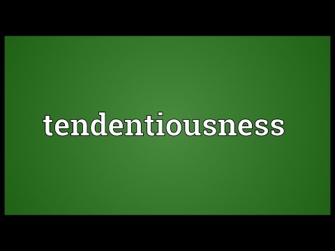 Header of tendentiousness