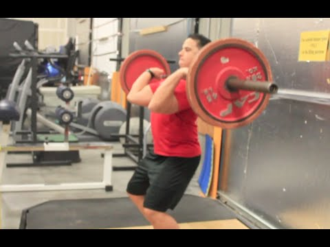 First Try At Olympic Lifting - POWER CLEANS