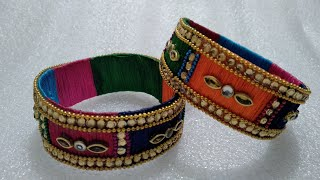 DIY   Best out of Waste plastic bottle reuse idea   How To Make  Dishainer Silk Thread Fency Bangles