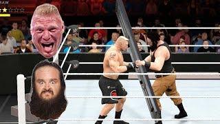 Brock Lesnar vs Braun NO MERCY   WWE 2K17