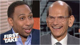 Stephen A. can't convince Paul Finebaum that Clemson can defend their title | First Take