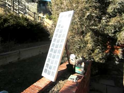 Simple solar system charging during the winter in Colorado
