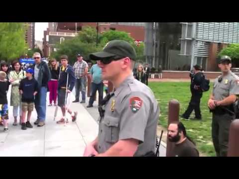 Mark and Barb Arrested For Exercising Free Speech Near Liberty Bell And Independence Hall