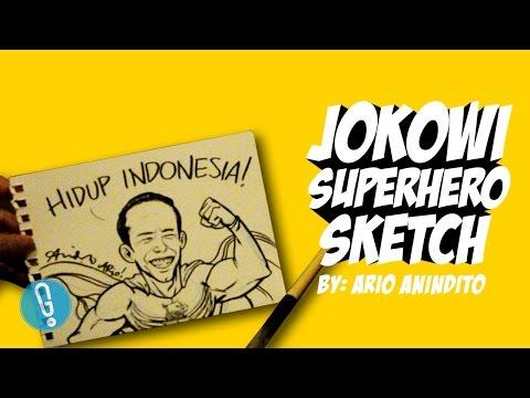 download lagu Jokowi Superhero Sketch By Ario Anindito gratis