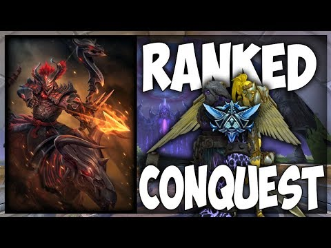 Smite: Sweaty Promos! - Ranked Conquest Grind #5 - Hachiman ADC