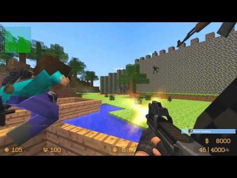 Counter Strike Source Zombie Escape Minecraft Adventure Map