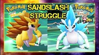 Pokemon Lets Go Pikachu and Eevee Singles Wifi Battle - Sandslash Struggle