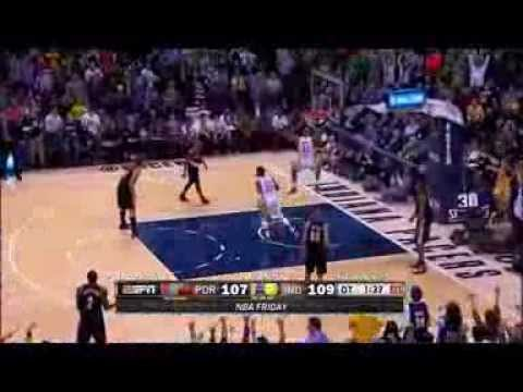 David West steal and DUNK against Portland in OT 7/2/2014