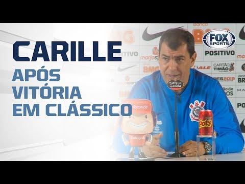 CARILLE AO VIVO! O Treinador do Corinthians concede entrevista coletiva após vitória em clássico