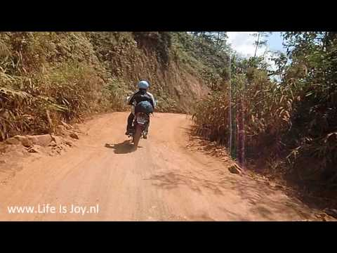 Vietnam dirtroad Ho Chi Minh trail crossing Ta Dung National Park and Lam Vien Highlands jhnew