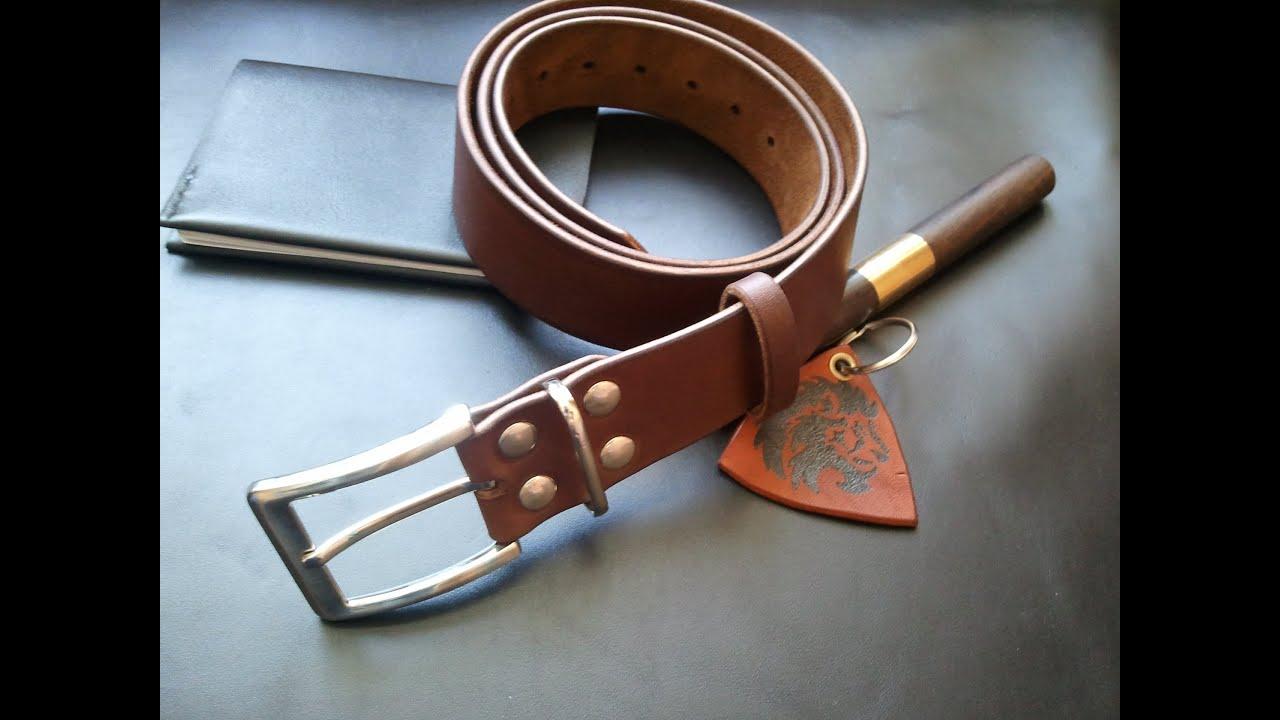 Как сделать кожаные ремни 547