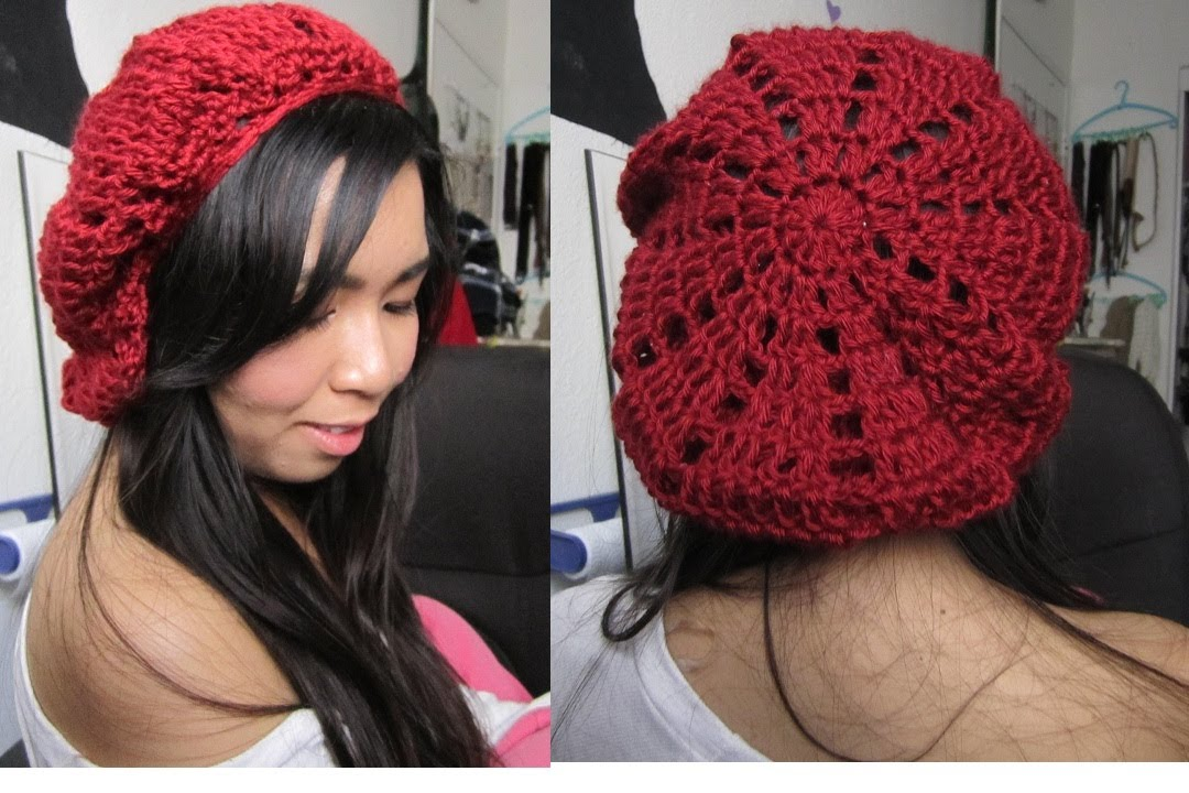 Free Crochet Pattern French Beret : DIY: Patched/Pyramid Beret (Crochet Tutorial) - YouTube