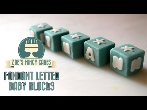 How to make fondant letter baby blocks How To Cake Tutorial