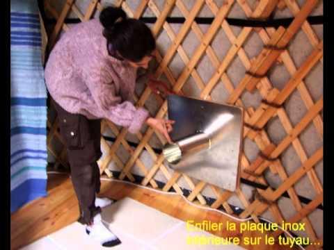 montage poele bois dans une yourte youtube. Black Bedroom Furniture Sets. Home Design Ideas