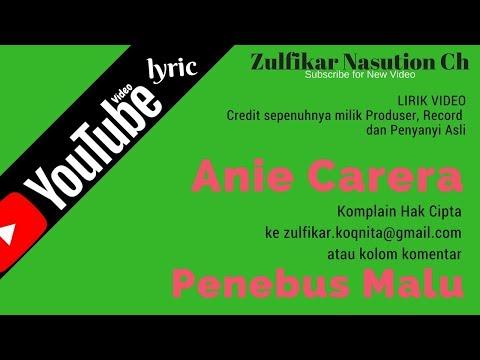 Anie Carera - Penebus Malu (lirik)