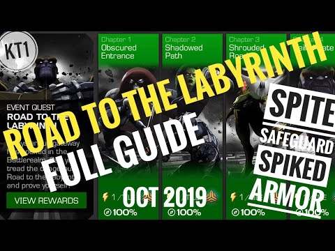 Road To The Labyrinth Full Guide! October 2019. Spite,Safeguard And Spiked Armor Counters + More!
